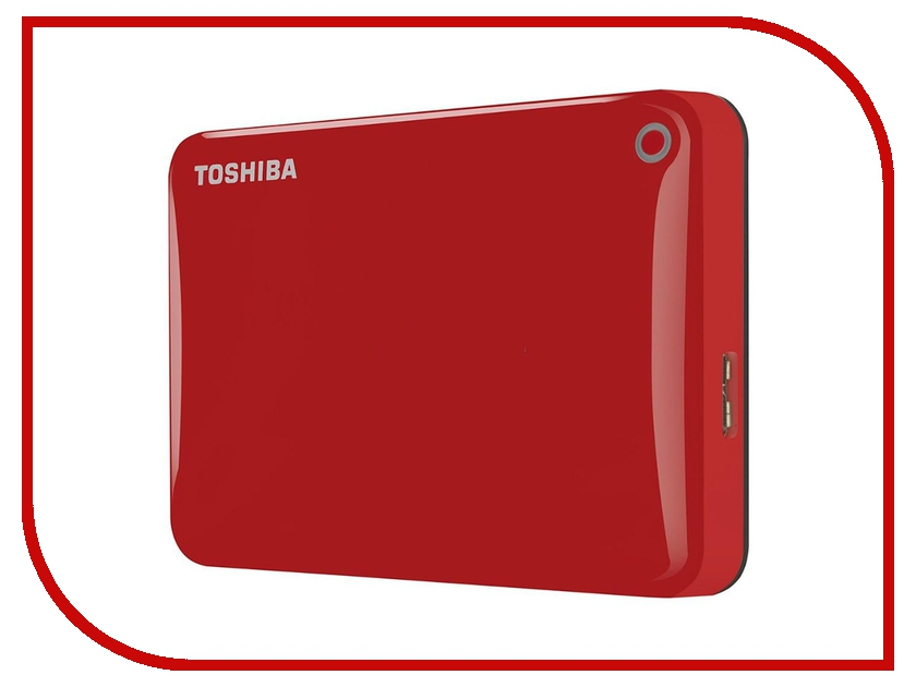 Жесткий диск Toshiba Canvio Connect II 1Tb Red HDTC810ER3AA