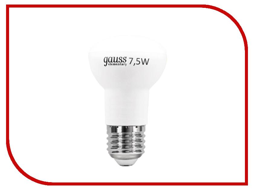 Лампочка Gauss Elementary R63 7.5W E27 2700K LD63218<br>