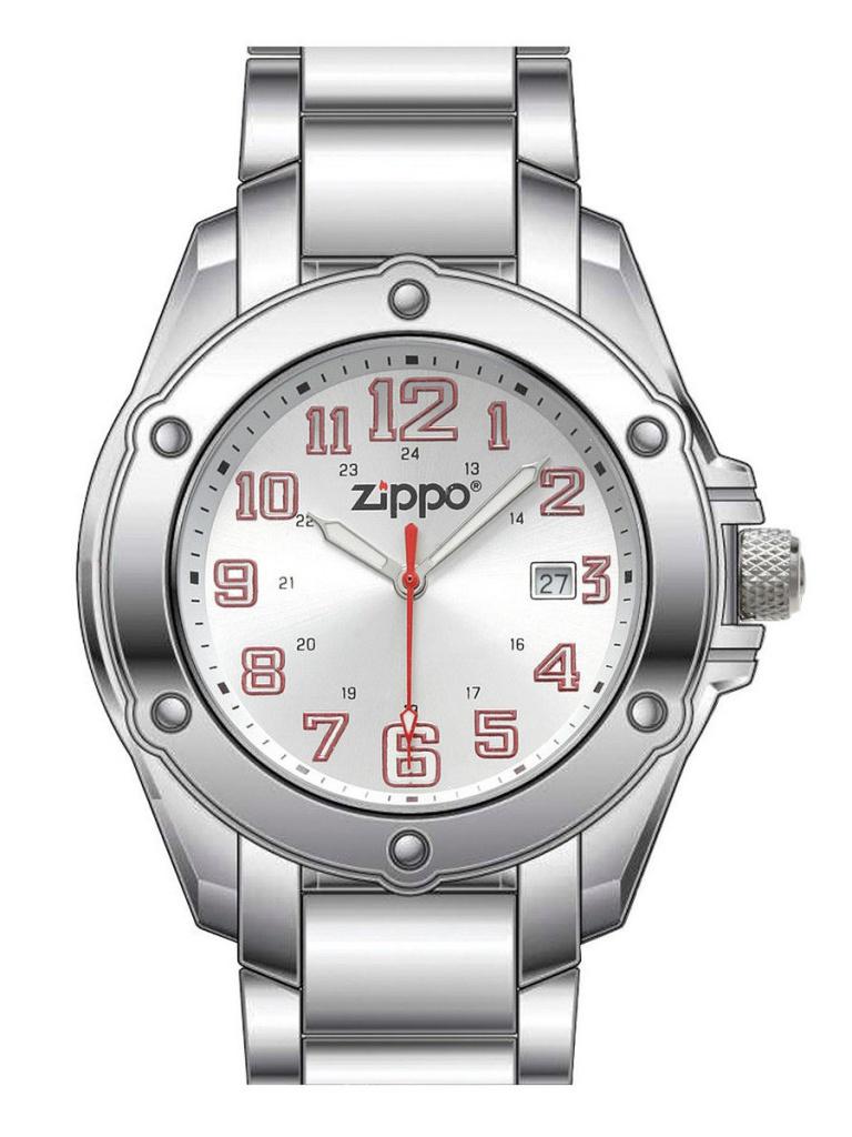 Часы Zippo Watch Dress 30mm Silver-Silver 45024<br>