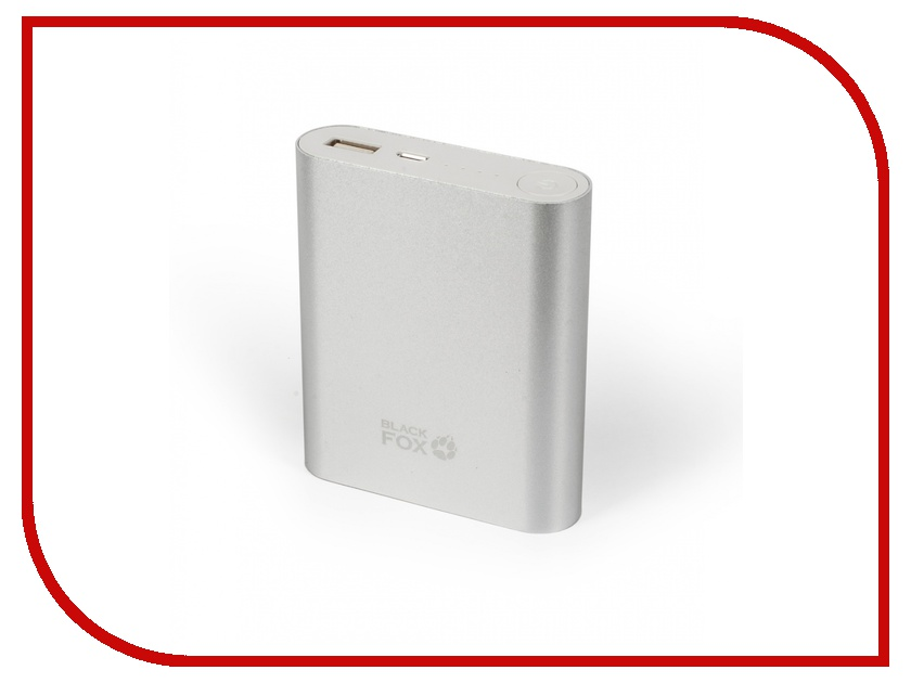 Аккумулятор Black Fox BMP104S 10400mAh Silver big creative simulation fox model polyethylene