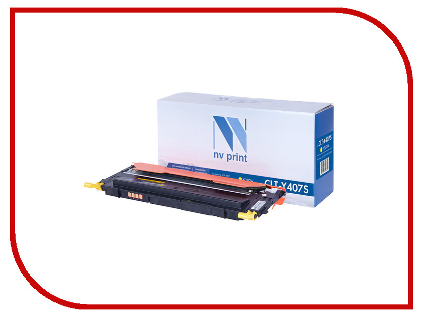 Картридж NV Print CLT-Y407S Yellow для Samsung CLP-320/325/320N/325W/CLX-3185/N/FN/FW d19 sbd6943 nv