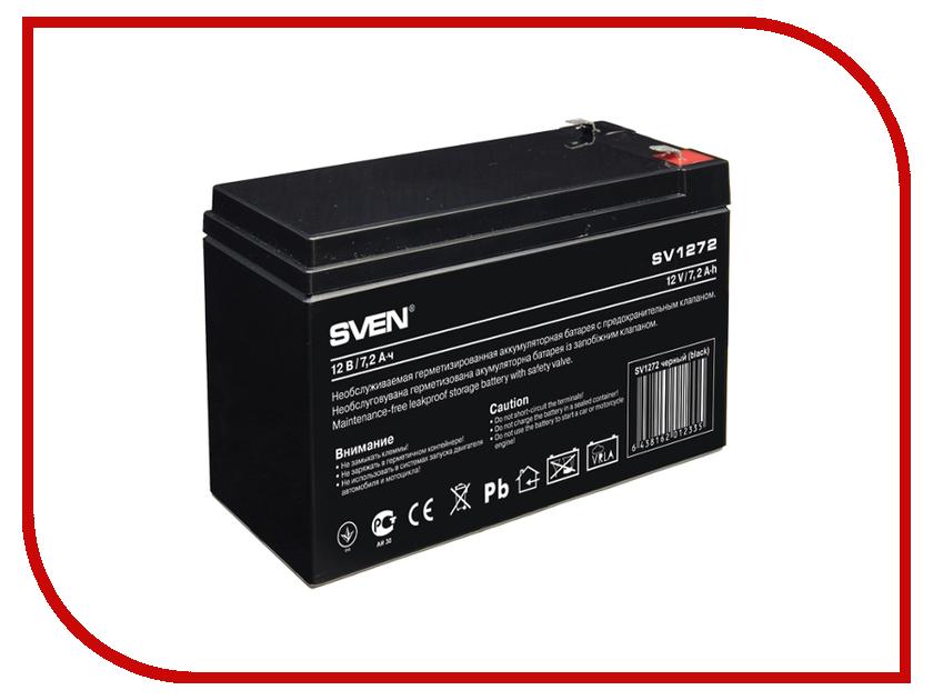 Аккумуляторы для ИБП/UPS SV 12V 7.2Ah  Аккумулятор для ИБП Sven SV 12V 7.2Ah SV1272