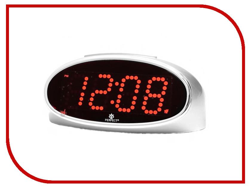 Часы настольные Perfect E150 Silver Red