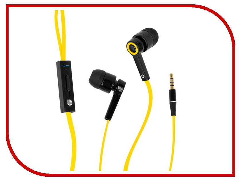 Гарнитура Hi-Fun Hi-Earphones V Yellow гарнитура hi fun hi deejay dark denim