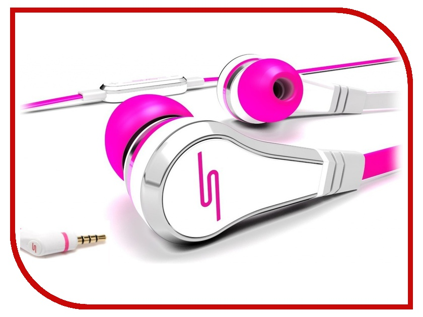 Гарнитура SMS Audio Street by 50 Wired Earbuds Pink SMS-EB-PNK<br>
