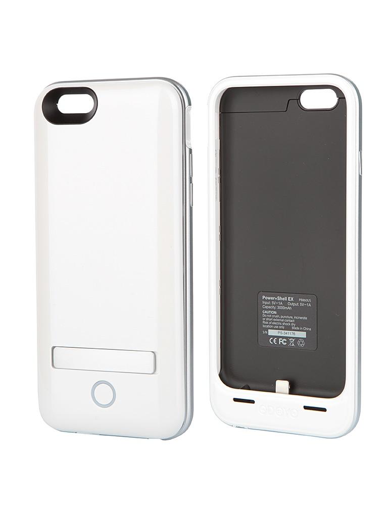Аксессуар Чехол-аккумулятор Odoyo Uranus Power + Shell 3000 mAh for iPhone 6 White PB860US