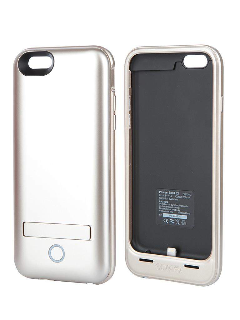 Аксессуар Чехол-аккумулятор Odoyo Mars Power + Shell 3000 mAh for iPhone 6 Gold PB860MS