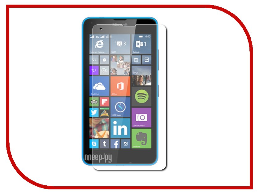 Аксессуар Защитная пленка Nokia Lumia 640/640 Dual Sim Aksberry прозрачная