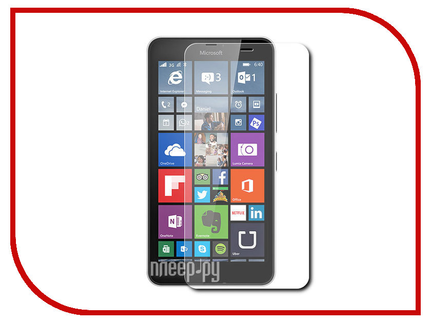 Аксессуар Защитная пленка Nokia Lumia 640 XL/640 XL Dual Sim Aksberry прозрачная<br>