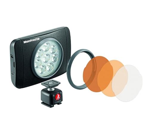 Накамерный свет Manfrotto MLUMIEMU-BK LED Lumie Muse