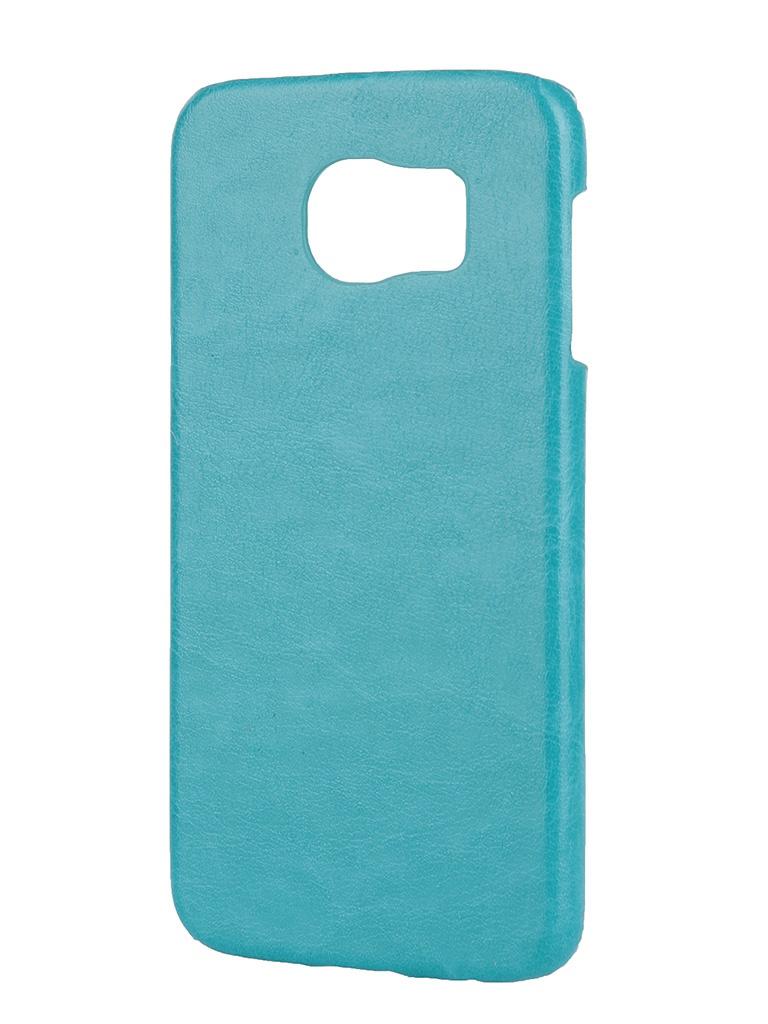 Аксессуар Чехол-накладка Samsung SM-G920 Galaxy S6 Aksberry Turquoise<br>