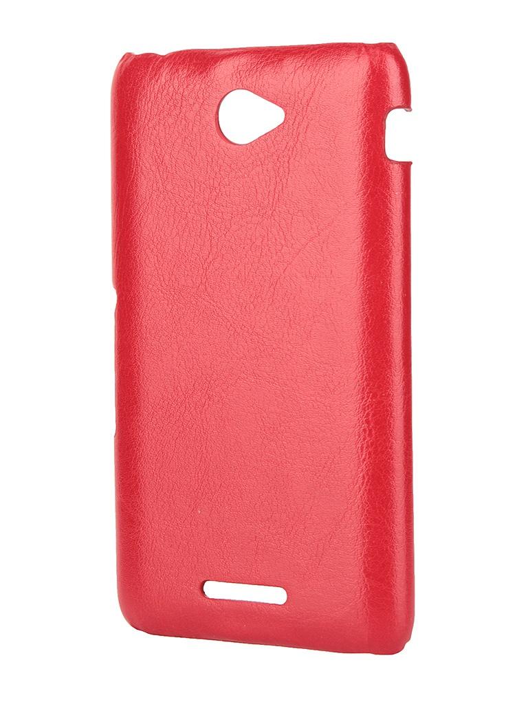 Аксессуар Чехол-накладка Sony Xperia E4/E4 Dual Aksberry Red<br>