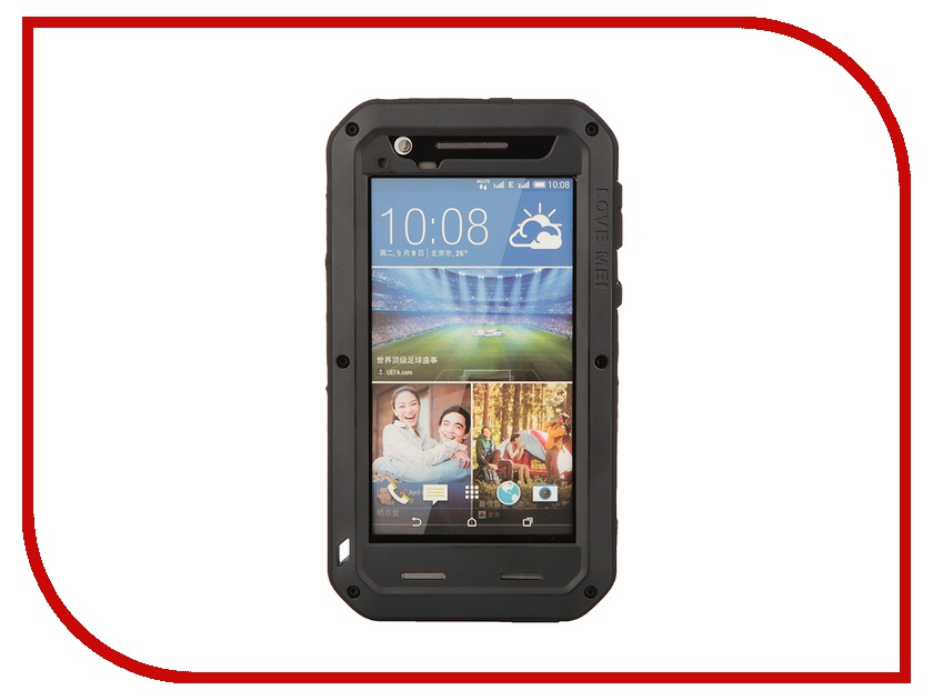 Аксессуар Чехол HTC Desire 820 Lunatik/Love Mei Palmexx Black PX/CH HTC 820 LOVE MEI Bl<br>