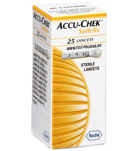 Ланцеты Accu-Chek Софткликс 25шт тест полоски accu chek performa 50шт