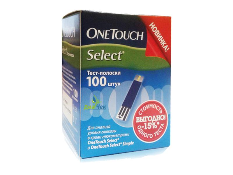 Тест-полоски OneTouch Select 100шт тест полоски ansett cpv anigen