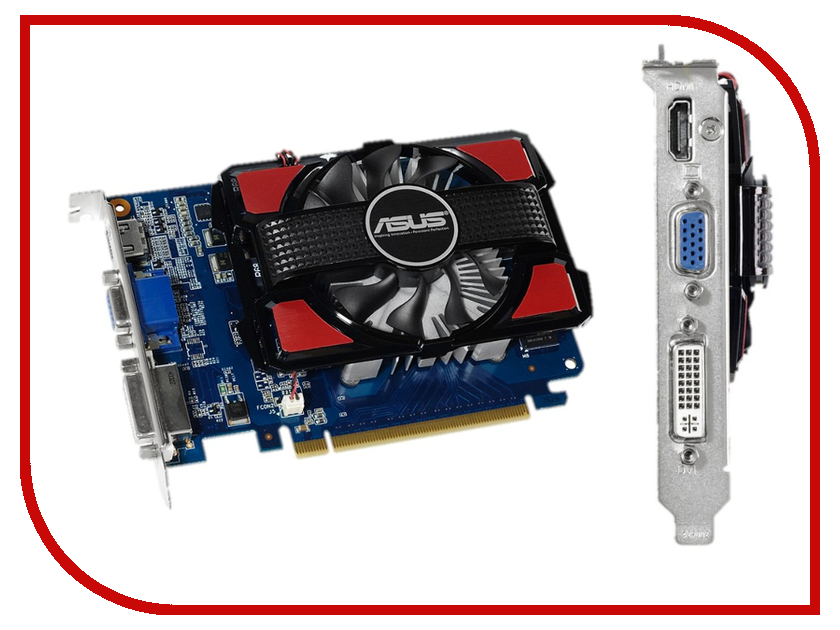 Видеокарта ASUS GeForce GT 730 700Mhz PCI-E 2.0 2048Mb 1600Mhz 128 bit DVI HDMI HDCP GT730-2GD3