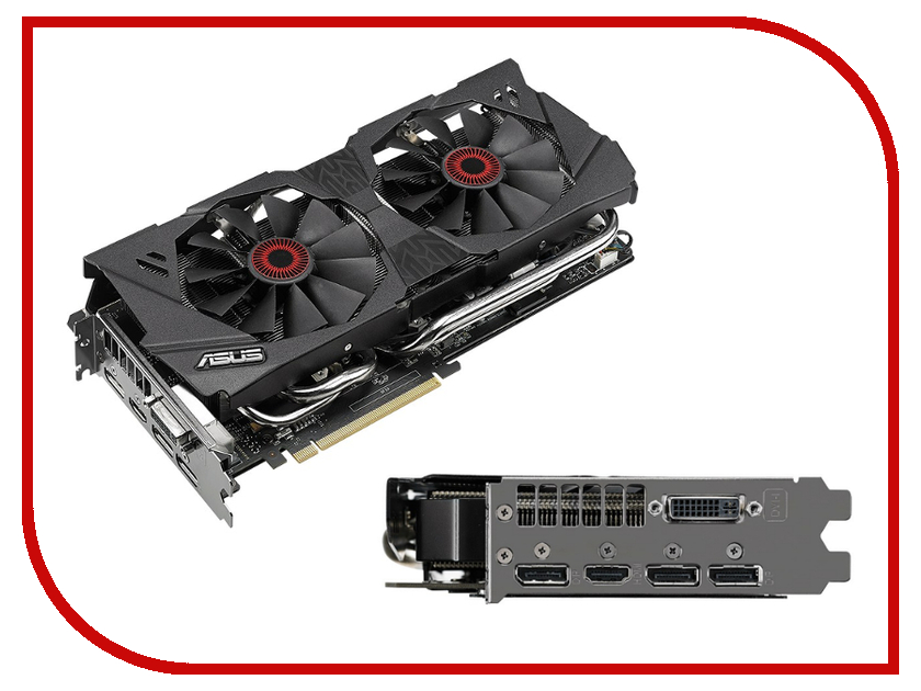 Видеокарта ASUS GeForce GTX 980 1126Mhz PCI-E 3.0 4096Mb 7010Mhz 256 bit DVI HDMI HDCP STRIX