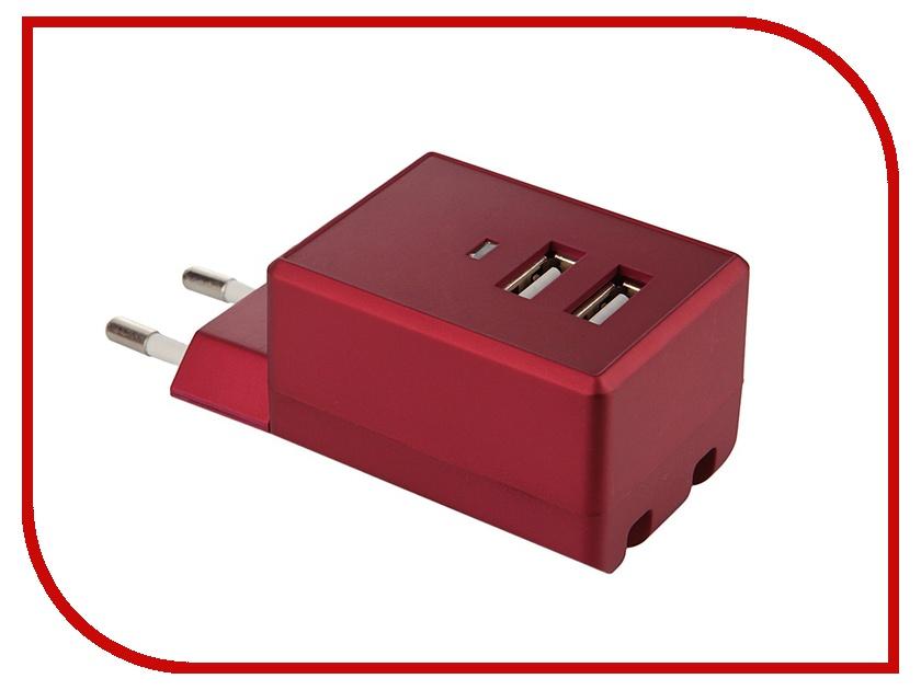 Зарядное устройство Air-J USB 220V Red<br>
