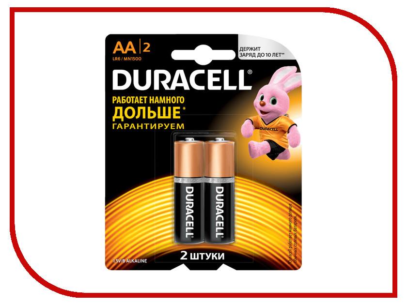 Батарейка AA - Duracell LR6-MN1500 (2 штуки) батарейка d panasonic zinc carbon r20rz 2bp r20 bl2 2 штуки