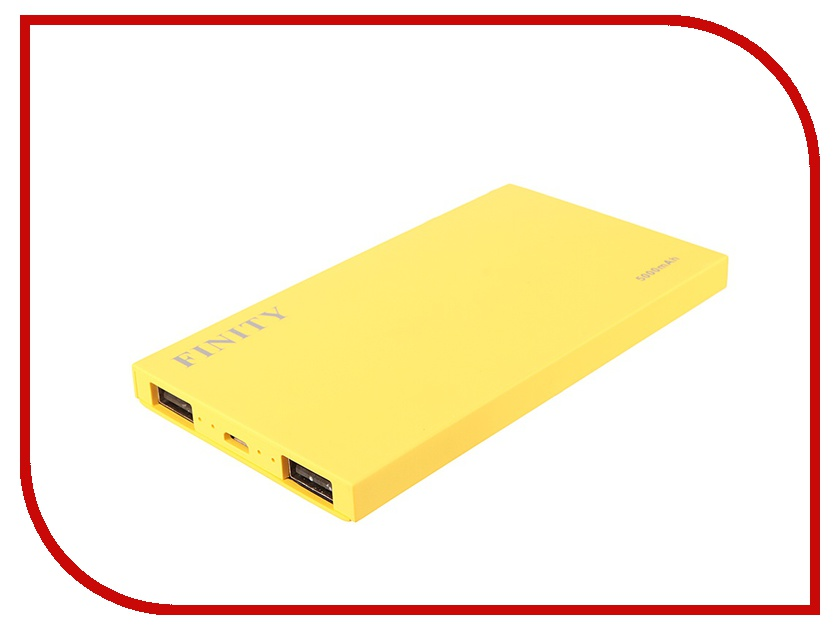 Аккумулятор Finity Dual USB 5000 mAh Matte Yellow<br>