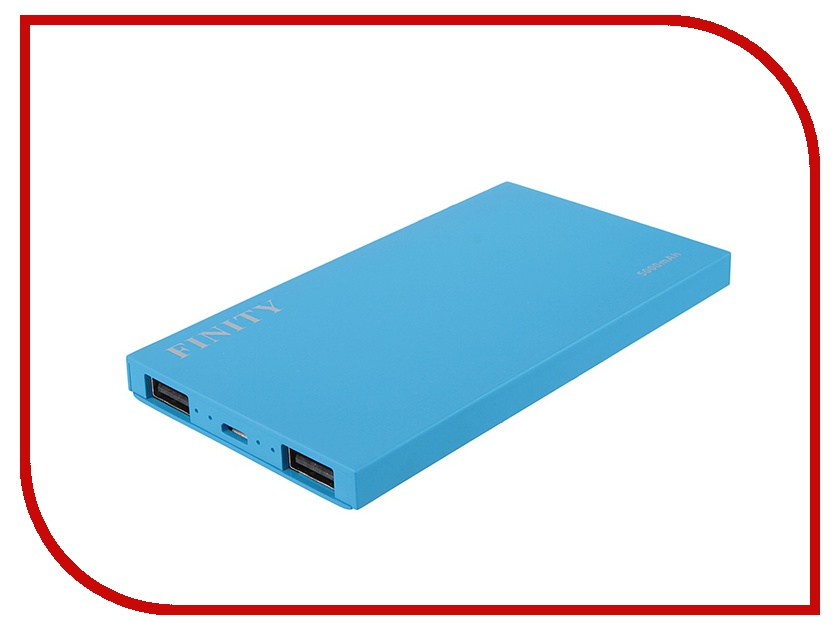 Аккумулятор Finity Dual USB 5000 mAh Matte Blue<br>