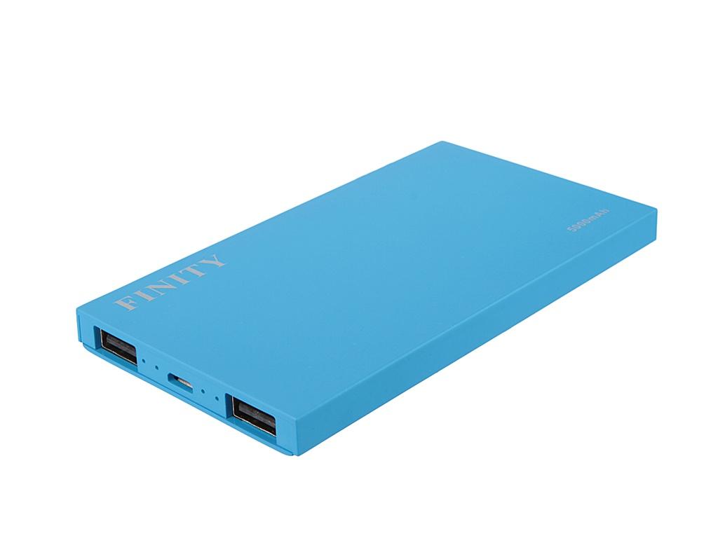 Аккумулятор Finity Dual USB 5000 mAh Matte Blue