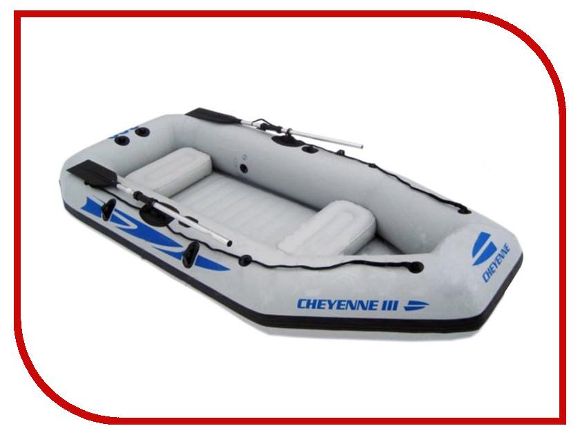 Лодка Jilong Cheyenne III 300 JL007112N надувная лодка с алюминиевыми веслами и насосом jilong cheyenne iii 400 set 284х132х38см jl007108n