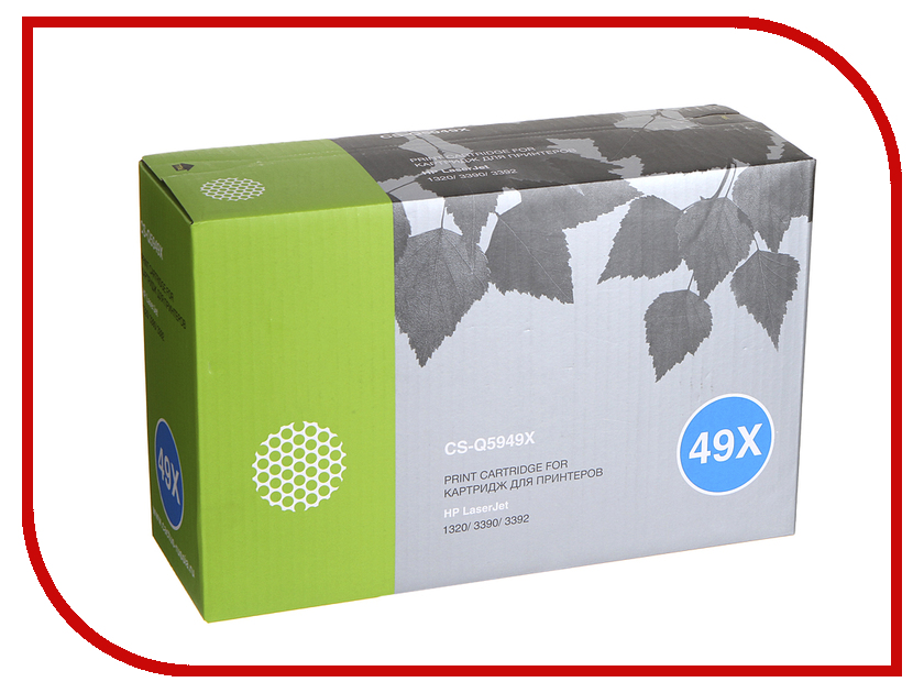 Картридж Cactus CS-Q5949X Black для HP Laser Jet 1320/3390/3392 картридж для принтера hi black hp q5949x q7553x black
