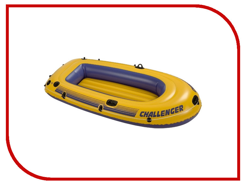 Лодка Intex Challenger 2 68366 байдарка challenger k2 351х76х38см до 160 кг весла насос intex