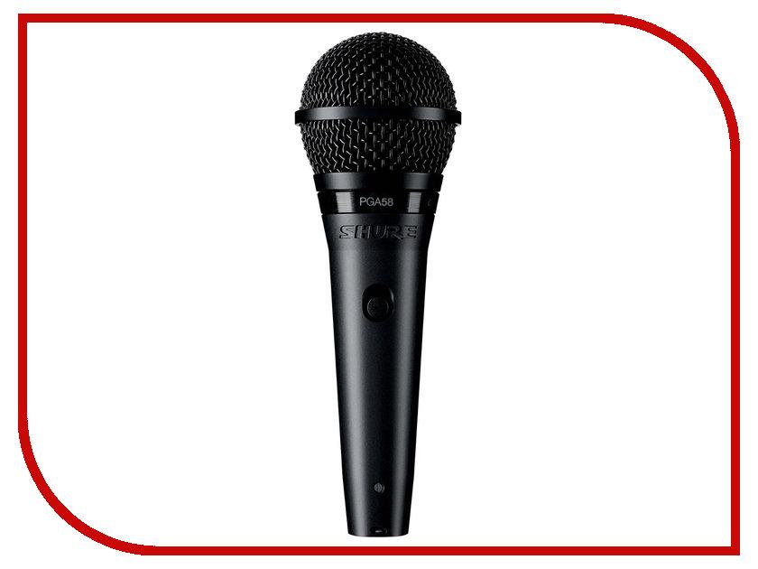Микрофон Shure PGA58-XLR-E вокальный микрофон shure pga58 qtr e