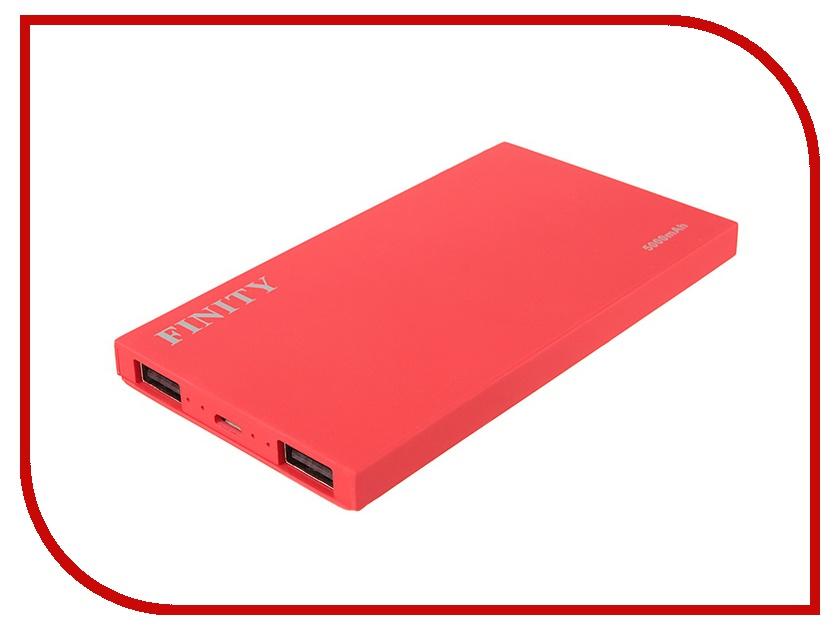 Аккумулятор Finity Dual USB 5000 mAh Matte Red<br>