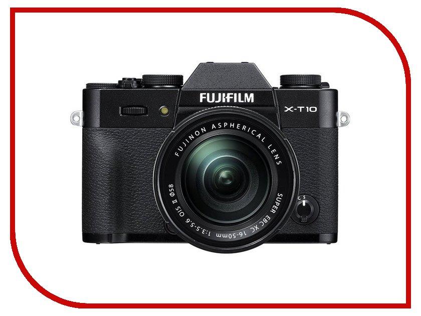 Фотоаппарат FujiFilm X-T10 Kit 16-50 mm F/3.5-5.6 Black цифровой фотоаппарат fujifilm x t10 body silver