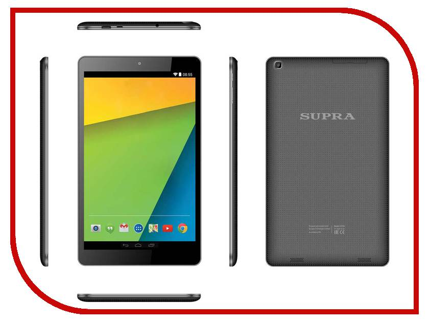 Планшет SUPRA M94BG 3G MT8382 1.3 GHz/1024Mb/8Gb/3G/Wi-Fi/Bluetooth/Cam/9.6/1280x800/Android