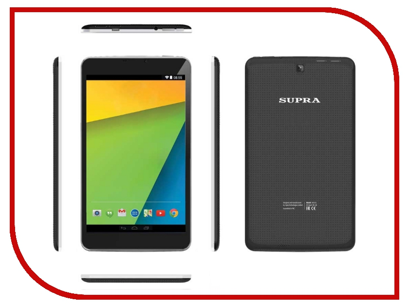 Планшет SUPRA M843G 3G MT8382 1.3 GHz/1024Mb/8Gb/3G/Wi-Fi/Bluetooth/Cam/8.0/1024x768/Android<br>