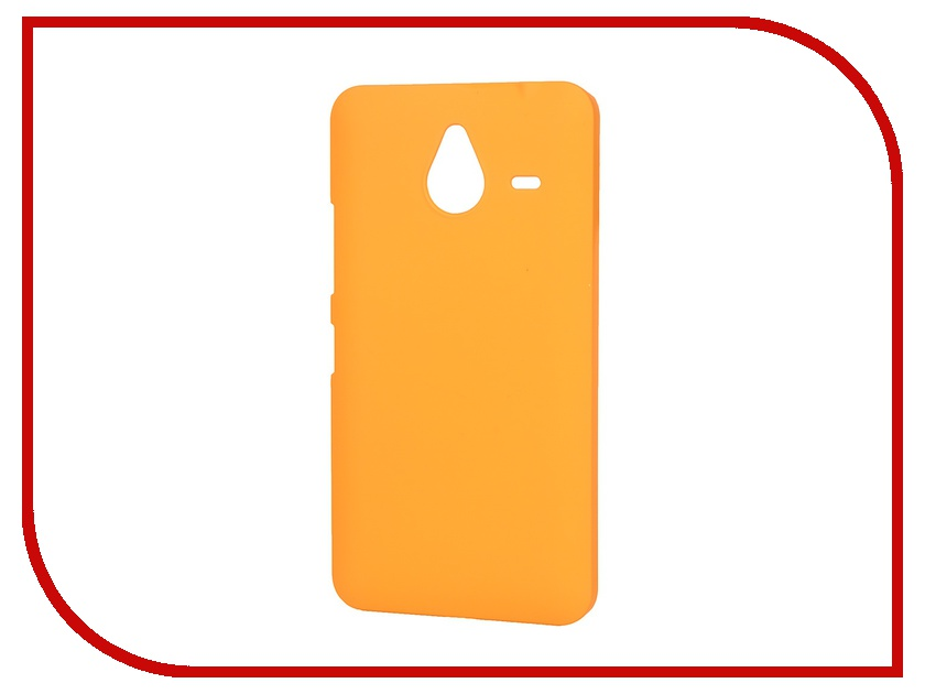 Аксессуар Чехол-накладка Microsoft Lumia 640 XL Pulsar Clipcase PC Soft-Touch Orange PCC0080<br>