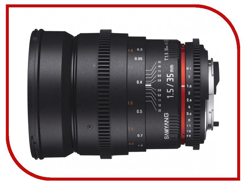 Объектив Samyang Samsung NX 35 mm T1.5 ED AS UMC VDSLR II<br>