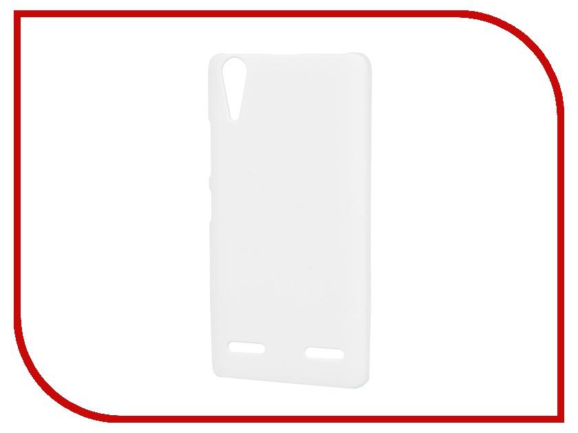 Аксессуар Чехол-накладка Lenovo A6000 Pulsar Clipcase PC Soft-Touch White PCC0061<br>