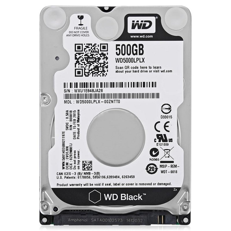 Жесткий диск 500Gb - Western Digital WD Black WD5000LPLX
