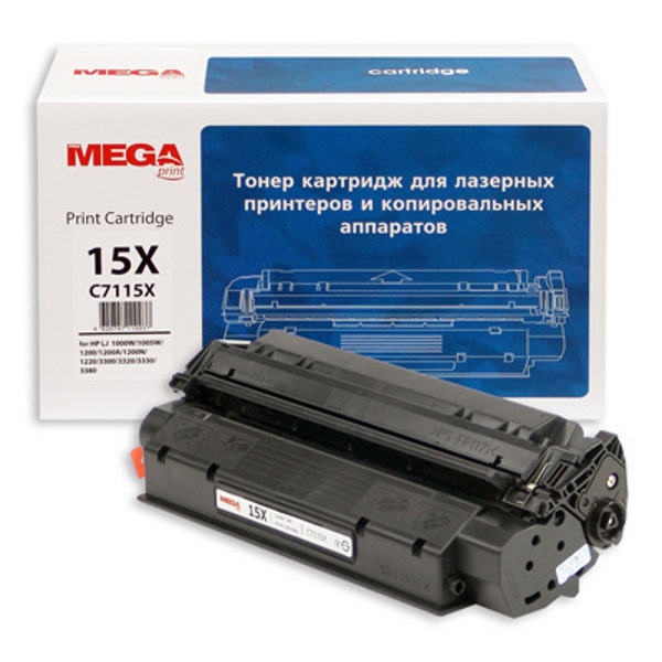 Аксессуар ProMega Print C7115X для HP LJ 1200/1220 Black