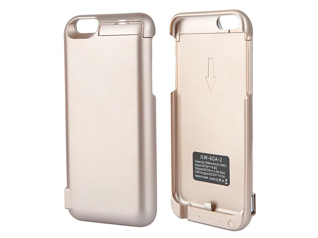 Аксессуар Чехол-аккумулятор Aksberry 6GA-2 7000 mAh для iPhone 6 Gold