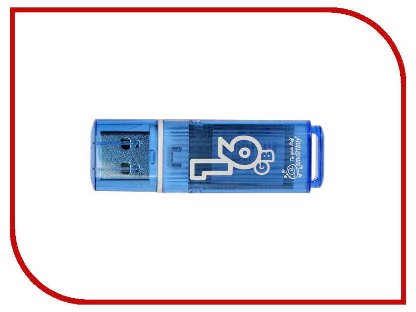 USB Flash Drive 16Gb - Smartbuy Glossy Blue SB16GBGS-B