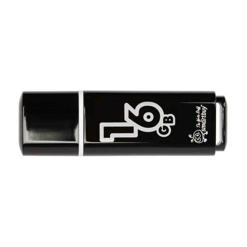 USB Flash Drive 16Gb - Smartbuy Glossy Black SB16GBGS-K