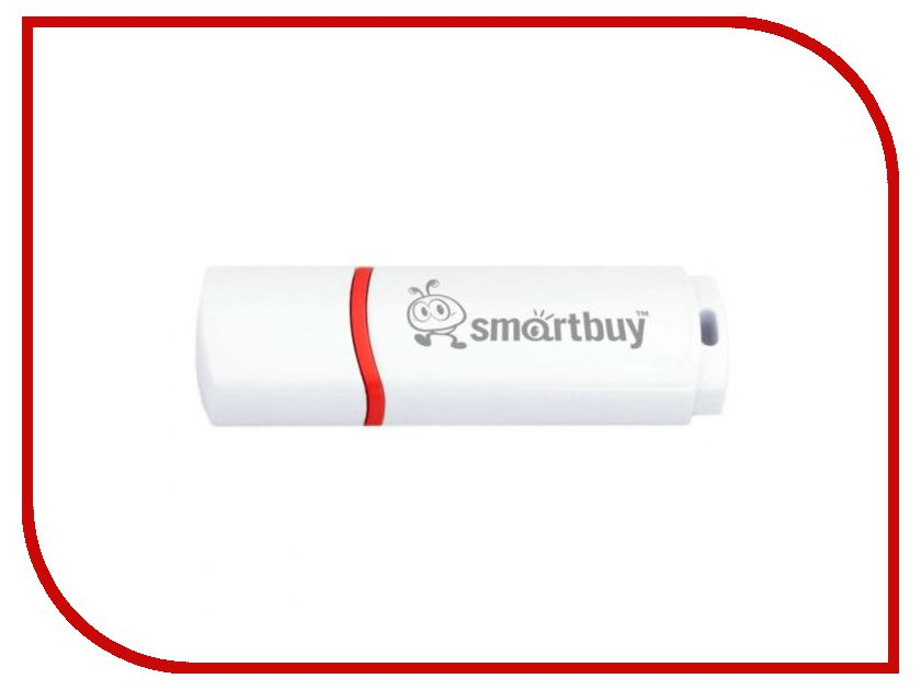 USB Flash Drive 8Gb - Smartbuy Crown White SB8GBCRW-W свеча дед мороз цвет белый