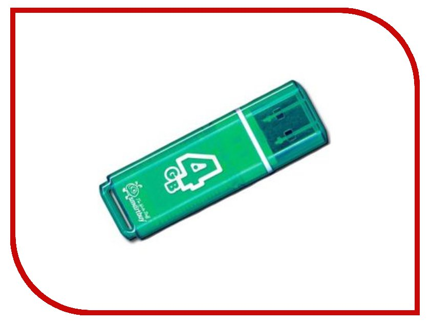USB Flash Drive 4Gb - Smartbuy Glossy Green SB4GBGS-G