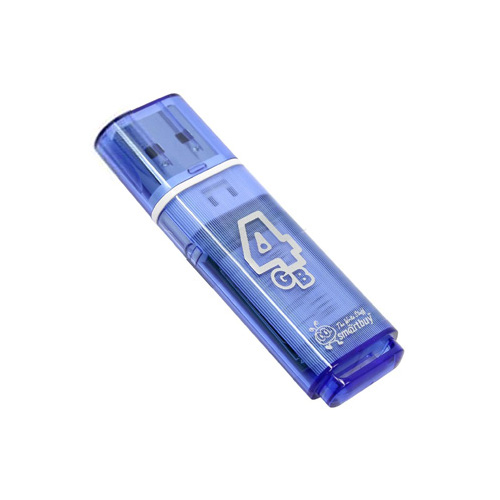 Фото - USB Flash Drive 4Gb - Smartbuy Glossy Blue SB4GBGS-B usb flash drive 32gb smartbuy glossy blue sb32gbgs b