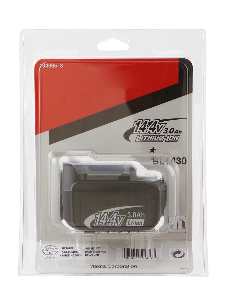 Аккумулятор Makita BL1430 Li-ion 14.4V 3Ah Слайдер 194065-3