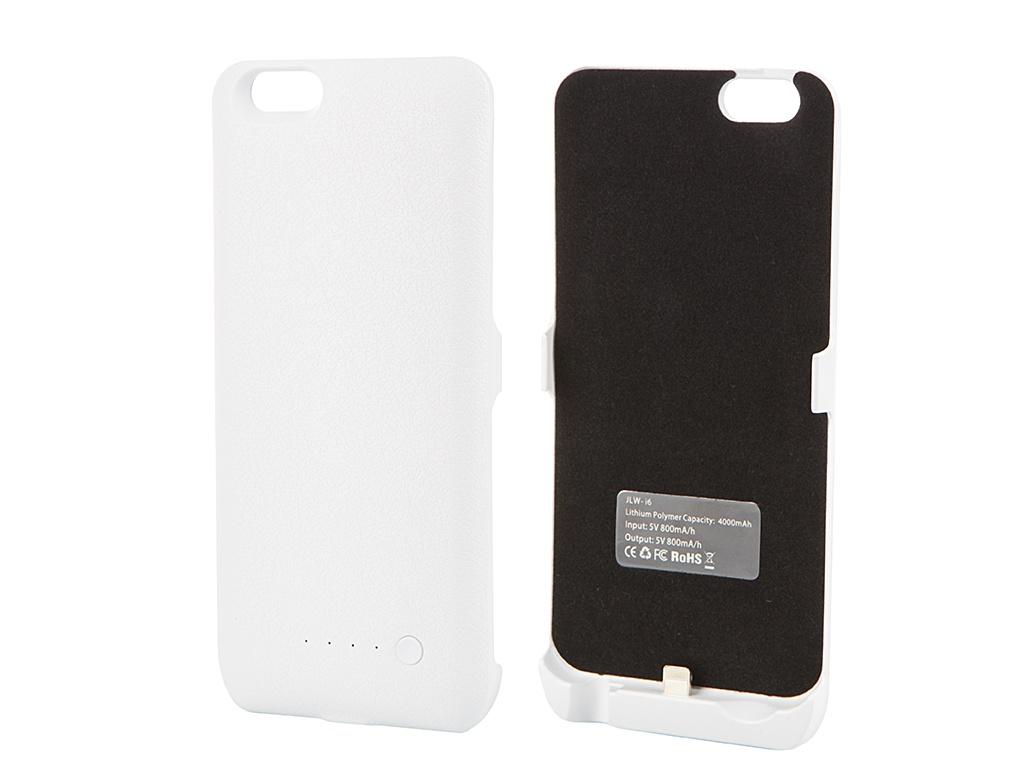 Аксессуар Чехол-аккумулятор Aksberry I6 4000 mAh iPhone 6 White