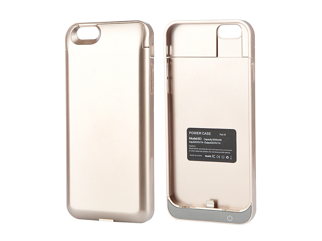 Аксессуар Чехол-аккумулятор Aksberry 6D 5000 mAh для iPhone 6 Gold