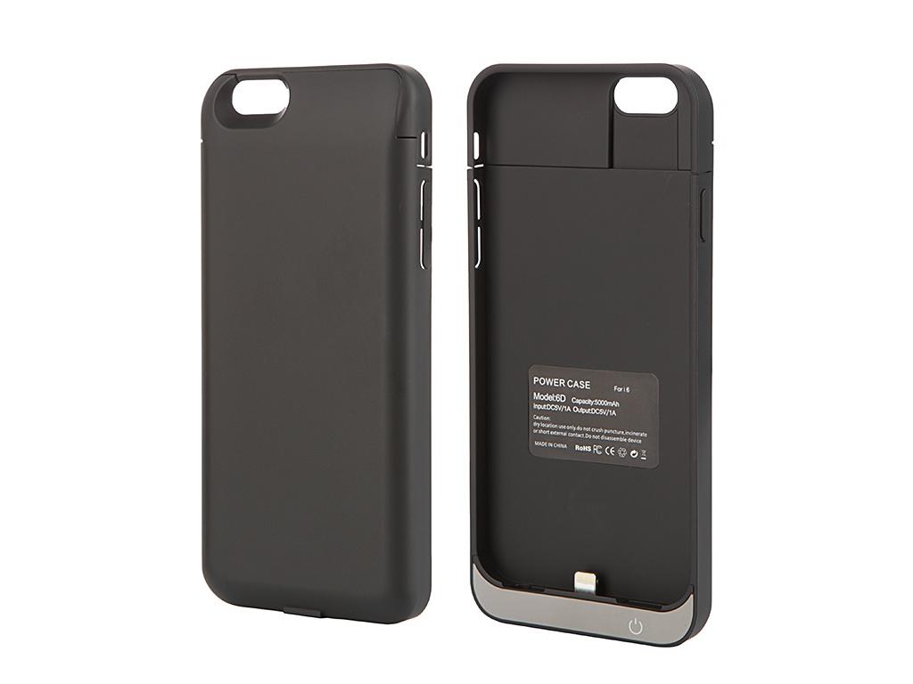 Аксессуар Чехол-аккумулятор Aksberry 6D 5000 mAh для iPhone 6 Black