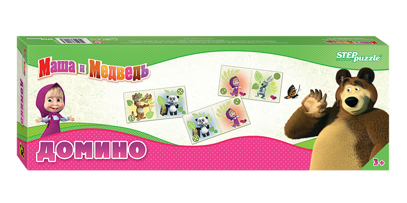 Настольная игра STEPpuzzle Домино Маша и Медведь<br>
